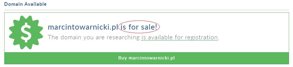 jak sprawdzić czy domena jest dostępna